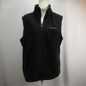Columbia Black Fleece Zip Up Vest Sleeveless XL